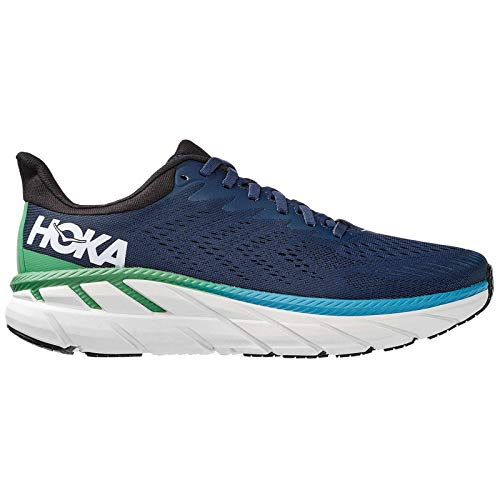 Hoka One One Hombre Clifton 7 Textile Synthetic Moonlit Ocean Anthracite Entrenadores 46 EU