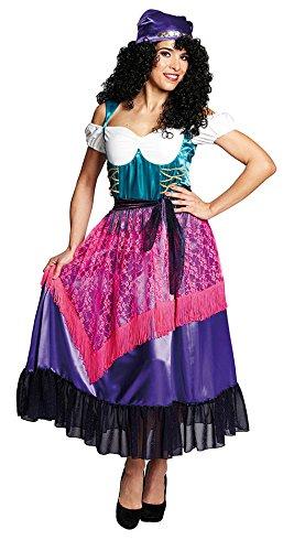 Karneval-Klamotten' Kostüm Zigeunerin Dame Kostüm Karneval Marktfrau Damenkostüm Größe 36