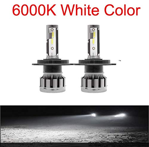 2pcs luces de coches LED H7 12000LM H4 Lámpara LED para bombillas de faros del coche H11 HB2 H8 H9 9005 9006 HB3 HB4 Turbo H1 Bulbos LED 12V 24V (Emitting Color : 6000k, Socket Type : H9)