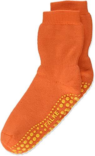 FALKE Kinder Stoppersocken Catspads, Baumwolle/Wollmischung, 1 Paar, Orange (Flash Orange 8034), Größe: 31-34