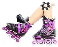 ローラースケート 大人の単一の列ローラーブレードのためのスピードスケートシューズインラインスケートスケートプロのインラインカーボンファイバー初心者スポーツアウトドアのレクリエーション (Color : Purple, Size : 40)