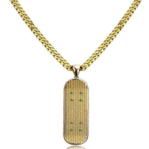 HAOYU Europa y los Estados Unidos Nuevo Colgante de Oro Micro-Incrustaciones de los Hombres monopatín Hip-Hop exagerada joyería Marea Collar