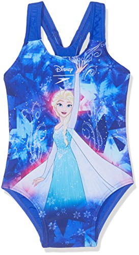 Speedo Mädchen Disney Frozen Badeanzug, ELSA Spell Beautiful blau/türkis, 6YRS