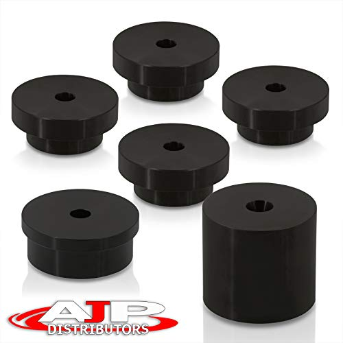 Performance Upgrade Racing Aluminum Solid Rear Differential Diff Mounts Bushing Kit Black For 350Z Z33 Fairlady Z / G35 V35 350GT Skyline VQ35 VQ35DE 2003 2004 2005 2006 2007 2008 2009