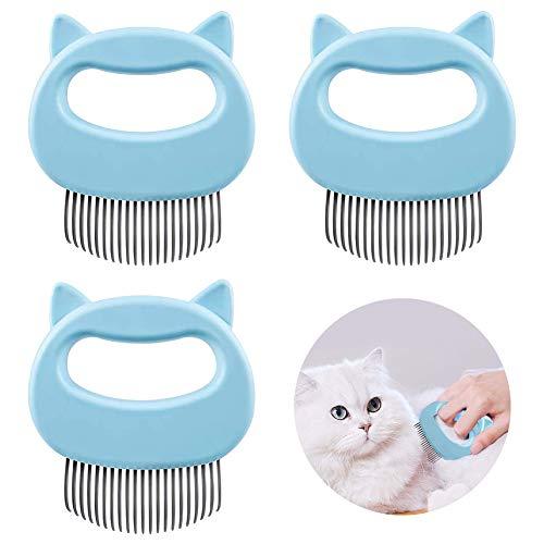 XYDZ Cepillo para Conchas para Mascotas, Cepillo para Gatos y Perros, Peine para Conchas para Gatos y Perros, Cepillo para Gatos y Peine para Masaje, Cepillo De Cerdas