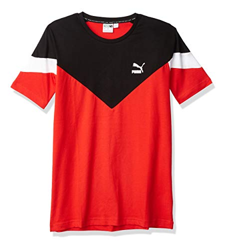 PUMA Iconic MCS - Playera para Hombre, Rojo (High Risk Red), Small