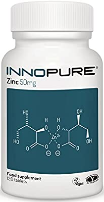 ZINC Gluconate 50mg - High Strength, One a Day, Easy to Swallow Tablet - 120 Tablets, 4 Months Supply