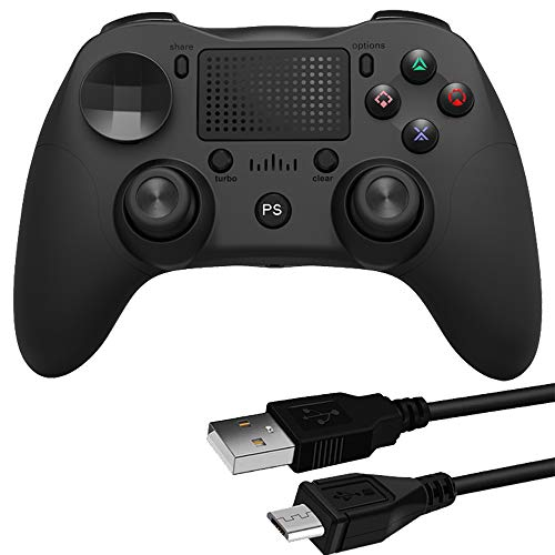 Wireless Controller for PS4 Dual Shock 4, Upgraded Gamepad Compatible with Playstation 4 Pro/Ps4 Slim/Android/PC (Black)