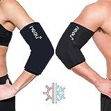 neeu® almohadillas de refrigeración de gel para rodillas, codos y articulaciones, terapia de calor y frío para el tratamiento del dolor para la regeneración (media)
