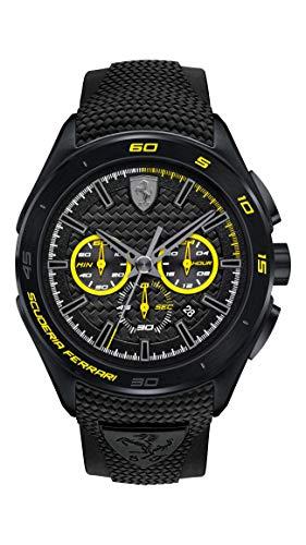Ferrari 0830345 Gran Premio - Reloj analógico de pulsera para hombre (cuarzo, correa de silicona)