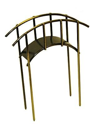 """G & F Products MiniGardenn 10030 Fairy Garden Miniature Mini Bridge, Rustic, 4"""" L x 1.25"""" W x 2.5"""" H with 2"""" Picks"""