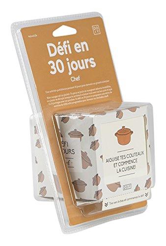 DOIY Design DYCHALCHF Défi Chef 30 Jours Français, Plastique, Multicolore, 13 x 9 x 20 cm