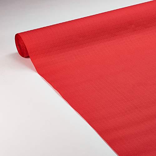 Le Nappage - Nappe de Table en Papier Gaufré Rouge - Recyclable et Biodégradable - Nappe Papier Rouge en Rouleau de 1,18 x 20 Mètres