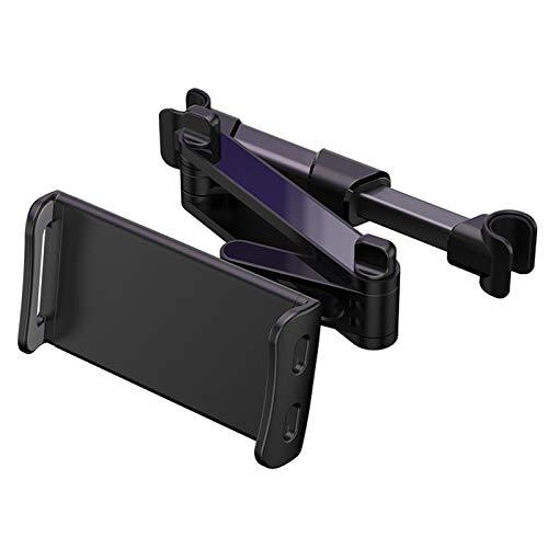 nimabi Tenedor De La Tableta del Coche, Soporte Giratorio Flexible De La Ayuda del Tenedor del Teléfono De La Tableta del Coche del Asiento Trasero De 360 Grados Negro UN