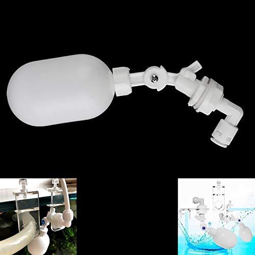 Válvula de control de nivel de agua Blanco de plástico ajustable flotador de llenado interruptor de control de agua de la torre de agua de la válvula 1pc automática Para válvula de control de nivel de