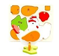 新品!動物鶏  3D木製のおもちゃ パズル 誕生日のプレゼント おもちゃ 知育玩具 幼児教育アプリシリーズ 知識を増すおもちゃ雑貨 木制品 zqzb0280-6