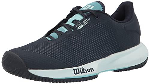 WILSON Women's KAOS Swift W Tennis Shoe, Outerspace/Aruba Blue/Soothing SEA, 8