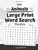100 Animals Large Print Word Search Puzzles