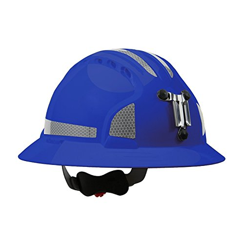 JSP 280-EV6161MCR2-50 Evolution Deluxe 6161 Full Brim Mining Hard Hat with CR2 Reflective Kit