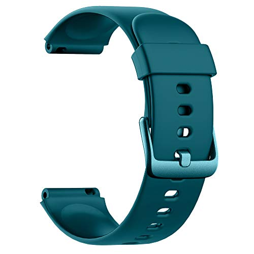 Soft Silicone Smart Watch Bands Replacement Straps Bands for Willful ID205L Smart Watch (Green)