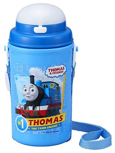 オーエスケー マグボトル ブルー 容量:約450ml きかんしゃトーマス ストロー付水筒 保冷タイプ SC-450S