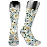 Calcetines de compresión de flores de manzanilla para mujeres y hombres, lo mejor para correr,...