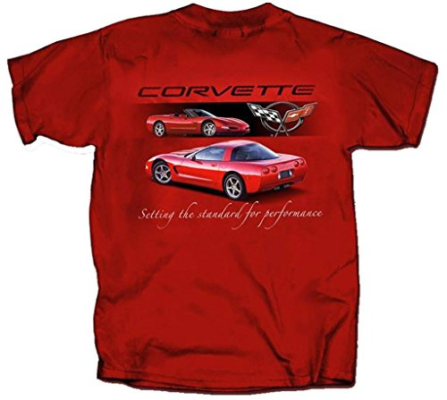 Chevrolet 1997 to 2004 Corvette C5 - Men's T-Shirt by Joe Blow Tee's 100% Cotton, Red, Medium