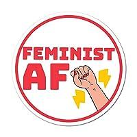 Feminist Af Lightning Fist Sticker Decal Feminism Woman Empower
