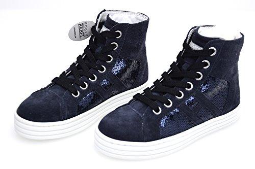 Hogan Rebel R141 Junior Bambina Scarpa Sneaker Casual Art. HXC1410P990GHN2B65 34 Blu - Blue