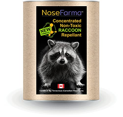 NoseFarma 4 Pack - Super Concentrated Olfactory Raccoon Repellant, Effective Formula, Pulverized Capsicums, Odorous Particulates Offensive To Raccons, Sprinkle In And Around Garbage And Recycling Bins