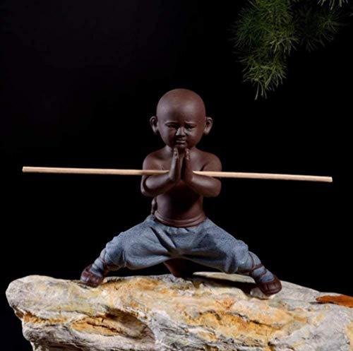 HZY Skulptur Monk Poco Keramik Statue Home Decor Handwerk Teeset Buddha Statu Skulptur