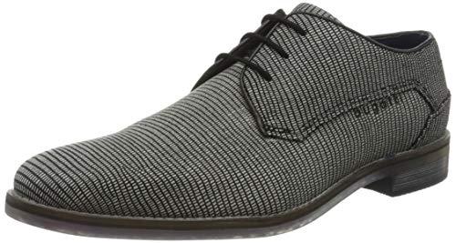 bugatti 312646091900, Zapatos de Cordones Derby para Hombre, Negro (Schwarz 1000), 42 EU