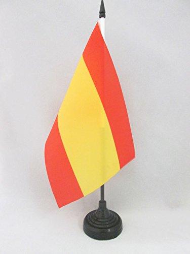 AZ FLAG Bandera de Mesa de ESPAÑA SIN Armas 21x14cm - BANDERINA de DESPACHO ESPAÑOLA SIN Escudo 14 x 21 cm