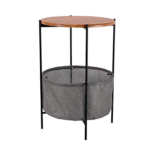 Cplxroc Mesa de café, mesa auxiliar, mesa de café redonda, mesa auxiliar con bandeja extraíble, fácil montaje.