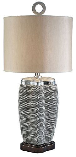 Furniture of America L94240T Sylvia Pearl Stone Table Lamp Miscellaneous-Others