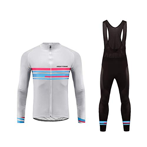 Uglyfrog Bike Wear Maillot de Ciclismo/Hombre Mangas Largas Bodies Ropa para Bicicleta 3D Cojín Conjunto Bici de Montaña Chaqueta+Pantalones Culote de Ciclista Largo Transpirable para Otoño, XS-6XL