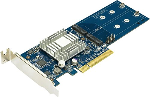 SYNOLOGY M2 SATA PCIe Gen2 x8 Adapter Karte Fuer Dual M2 SSD Slot Fuer DS1517+ DS1817+