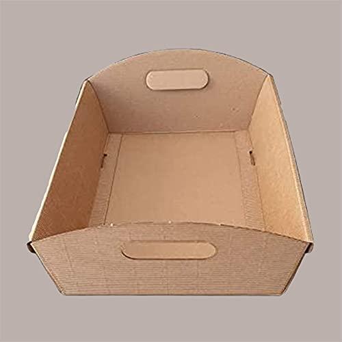 10 Pezzi Cesto Carta Cartone Onda Avana Grande 430x300H100 Strenne Cesti Natalizi di Natale Enogastronomia Average Brown Cardboard Box