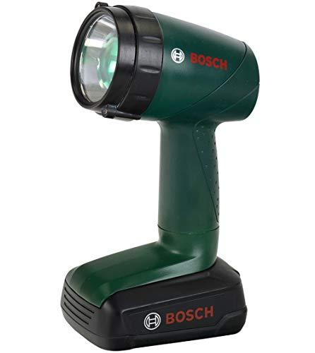 Theo Klein 8448 Bosch Akku-Lampe I Batteriebetriebene Lampe um 90 Grad drehbar I 4 Lichtfarben I Maße: 9,5 cm x 6,4 cm x 18 cm I Spielzeug für Kinder ab 3 Jahren