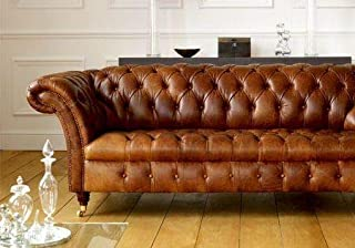e6c55e3fe102a Chesterfield Balmoral 3 Seater Sofa Settee Old English Buckskin Leather