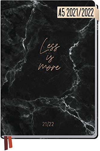 Häfft-Timer 2021/2022 A5 [Less is more] Hardcover Schüler-Kalender, Schüler-Planer, Schulplaner, Studienplaner/Semesterplaner für Oberstufe, Ausbildung oder Studium | nachhaltig & klimaneutral