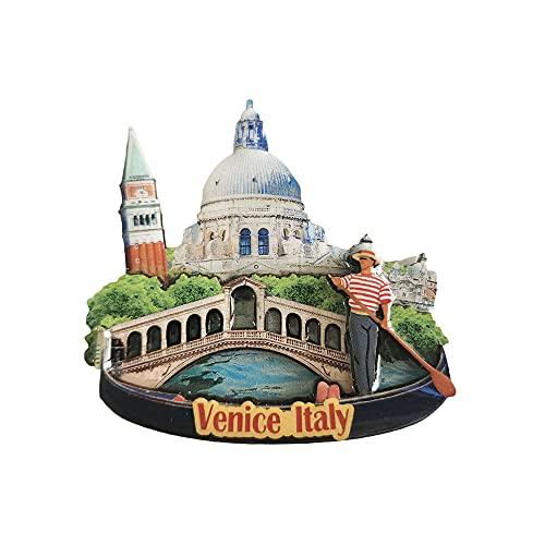 Venecia Italia 3D imán del refrigerador recuerdos turísticos madera magnético pegatinas imán del refrigerador decoración del hogar y de la cocina de China