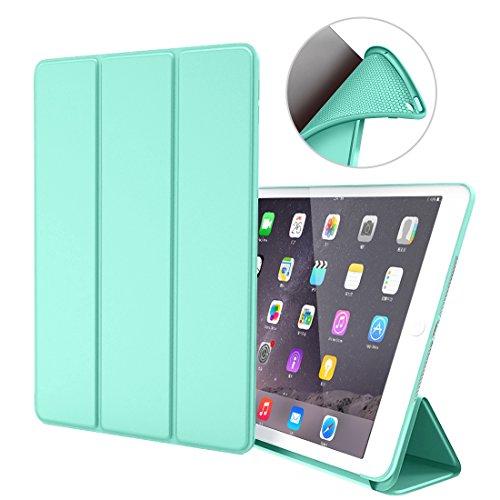 iPad Air 1 Funda, GOOJODOQ Ligero Smart Case Cover con Magnetic Auto Sleep/Wake Función Piel Sintética a Prueba de Golpes Suave Silicona TPU Funda para iPad Air 1 Verde Menta