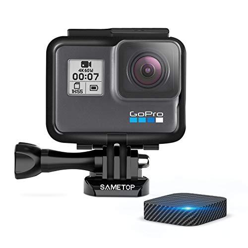 【Sametop】GoPro Hero7 Black用 フレームマウント 保護ケース ゴープロ アクセサリー GoPro Hero7 Hero6 Hero5 Hero(2018)カメラに兼用 レンズカバー付き