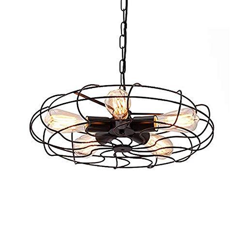 Vintage ijzeren zwart hanger licht retro industrie hanger lamp ventilator design shade kroonluchter voor keuken tafel eetkamer woonkamer bar loft café hanglamp verlichting hoog