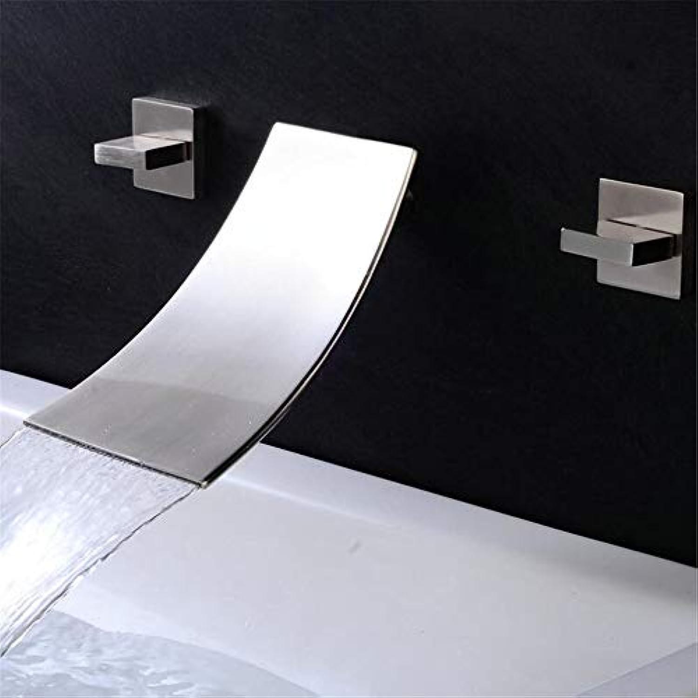 Waschtischarmaturenwasserfall Kaltwasser Temperaturregelung Led Becken Quadratischen Wasserhahn Bad Waschbecken Waschbecken Wasserhahn