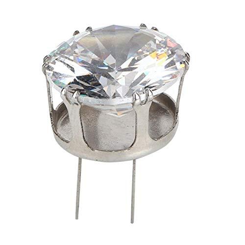 Diamantschnalle, 10 Stück Metallschnalle Zirkonstrass, Runde Silber Kleidung Kleider Schuhe für Wertschätzung für Dekoration(Silver)