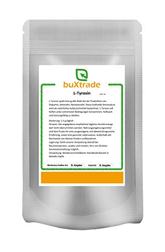 250 g L-Tyrosin Pulver   Muskelaufbau   Aminosäure   Aufputschmittel   Nahrungsergänzungsmittel  
