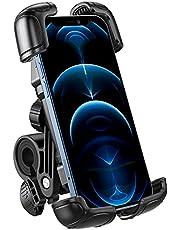 OMOTON Soporte Móvil Bicicleta, Anti-Vibración Soporte Móvil Moto para Manillar Universal, Rotación 360° Base Móvil Bici Compatible con iPhone 12 11 Pro Max, Galaxy y otros teléfonos(4.7-7.1Pulgadas)