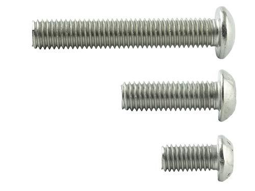 M8x40 mm (10 Stück) Linsenkopf-Schrauben mit Innensechskant - Edelstahl VA A2 V2A - Edelstahlschrauben mit Flachkopf rostfrei - ISO 7380 | AGBERG
